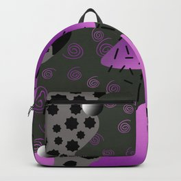 memphis style pattern Backpack