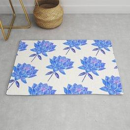 Sacred Lotus – Blue Blossom Rug