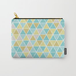 Triangulation (blue and green) Carry-All Pouch