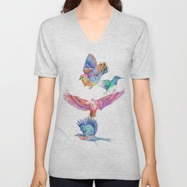 birds in color Unisex V-Neck