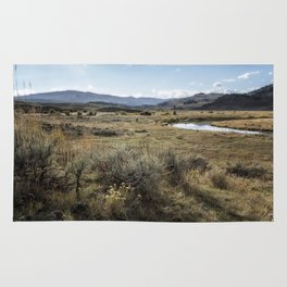Waiting for Wolves in Lamar Valley - Yellowstone Rug
