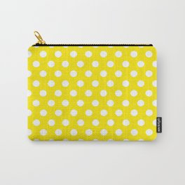 Yellow Dot Pattern Carry-All Pouch