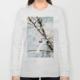 Frozen branch with red berry Long Sleeve T-shirt