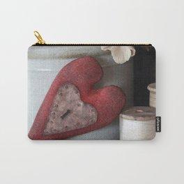 Vintage Heart Vignette Carry-All Pouch