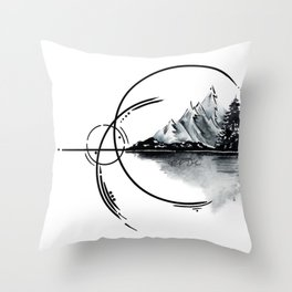 Geometric landscape Throw Pillow