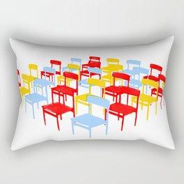 25 Chairs Rectangular Pillow