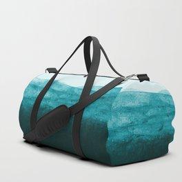 Aqua Watercolor Tide Duffle Bag