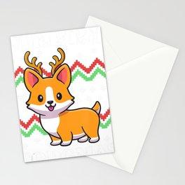 Merry Corgmas Ugly Corgi Christmas Nerdy Xmas Pajamas Stationery Cards