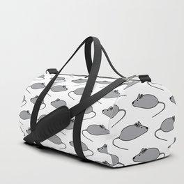Digital Graphics Mouse Pattern Duffle Bag
