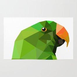Eclectus parrot Geometric bird art Rug