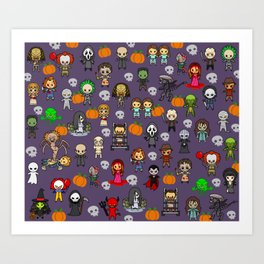 halloween horror special blanket Art Print