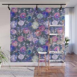 Gillian Floral Gray Wall Mural