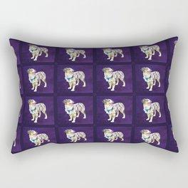 Toy Australian Shepherd Rectangular Pillow