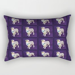 Toy Australian Shepherd Rectangular Pillow