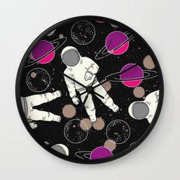 Cosmic Hipster Astronaut Wall Clock