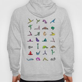 Rainbow Yoga Poses Hoody