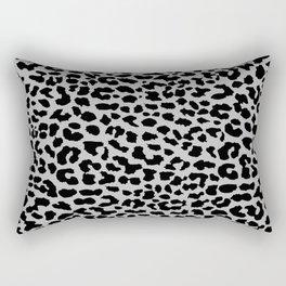 Neon Gray Leopard Rectangular Pillow
