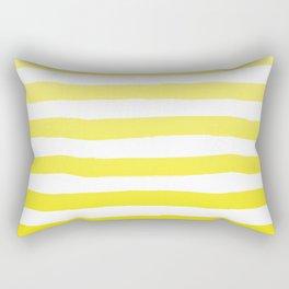 Sun Yellow Handdrawn horizontal Beach Stripes - Mix and Match with Simplicity of Life Rectangular Pillow