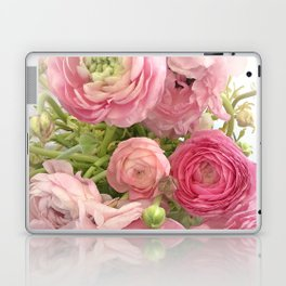 Shabby Chic Cottage Ranunculus Peonies Roses Floral Print Home Decor Laptop & iPad Skin