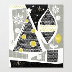 achromatic holidays Canvas Print