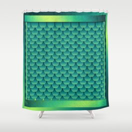 Green Dragon Scales Shower Curtain