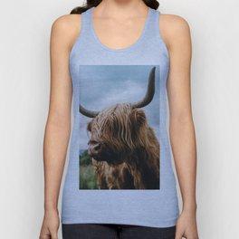 Scottish Highland Cattle - Animal Photography Unisex Tank Top