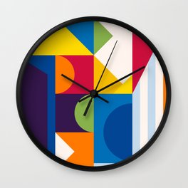 Abstract modern geometric background. Composition 15 Wall Clock