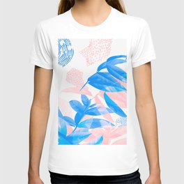 Simple leaf lines T-shirt
