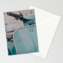 Mint Vespa  Stationery Cards