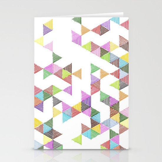 Technicolour Raindrops Stationery Cards