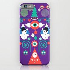 Christmas - purple pop Slim Case iPhone 6s