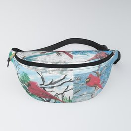 Cardinal Collage Fanny Pack