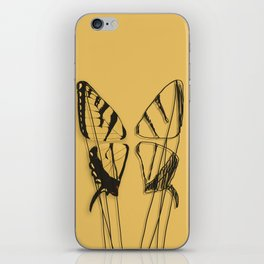 Western tiger swallowtail butterfly iPhone Skin