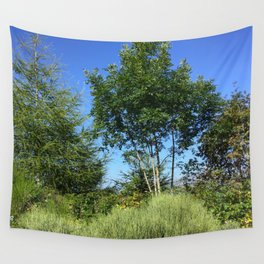Trees and the mountain Wall Tapestry