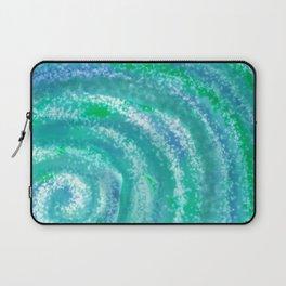 Swirling Blue Ocean Waters - Abstract Laptop Sleeve