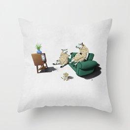 Sheep (Wordless) Throw Pillow