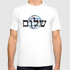 shalom  Mens Fitted Tee SMALL White