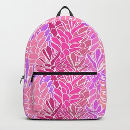 Tropical Ginger Blossom Vines in Pink + Coral Backpack