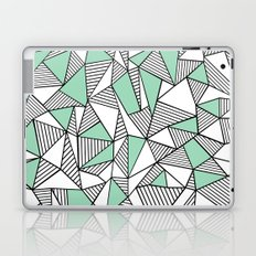 Abstraction Lines with Mint Blocks Laptop & iPad Skin