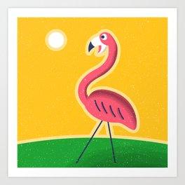 Plastic Flamingo Art Print