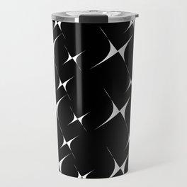 Optical Pattern Black Travel Mug