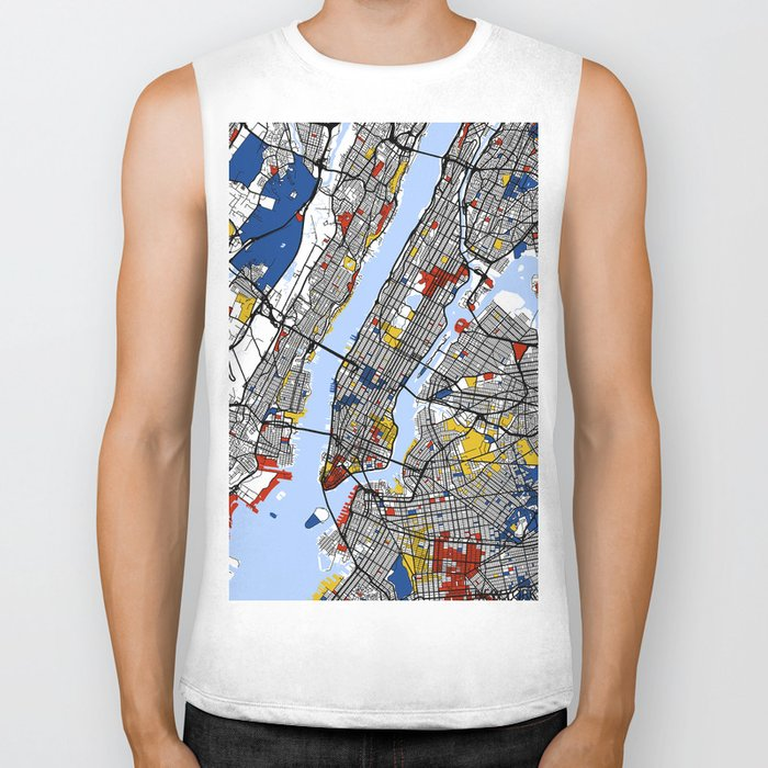 New York Mondrian Biker Tank