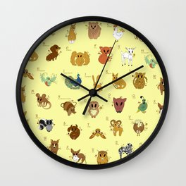 ABC With Me Wall Clock