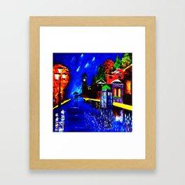 Tardis Phone Both Starry Night Framed Art Print
