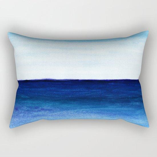 Blue & blue Rectangular Pillow