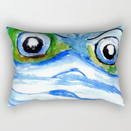 Angry Earth planet in face mask Rectangular Pillow