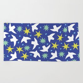 edge & peace Beach Towel