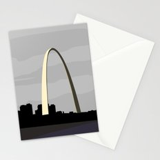 Gateway Arch - Modern architecture abstracts Stationery Cards