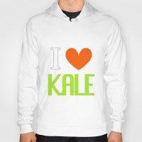 vegetarian Hoodies featuring I Love Kale - Vegan & Vegetarian - Kale Love by Be Kindly