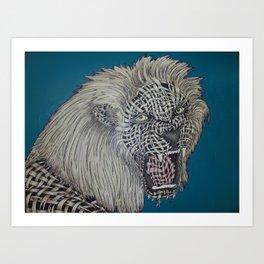 Weaved Lion Art Print